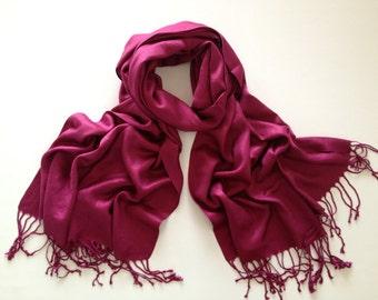 SALE purple -cranberry  pashmina scarf,  pashmina, fashion scarf, pashmina scarf, pashmina shawl, scarf, shawl, keepsake, favor, gift