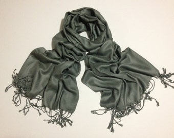 charcoal pashmina scarf, gray pashmina, fashion scarf, pashmina scarf, pashmina shawl, scarf, shawl