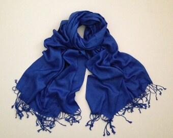 royal-blue pashmina scarf, blue pashmina shawl, blue fashion scarf, pashmina scarf, pashmina shawl, scarf, shawl