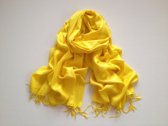 bright yellow pashmina scarf, bright yellow pashmina shawl, bright yellow fashion scarf, pashmina scarf, pashmina shawl, scarf, shawl