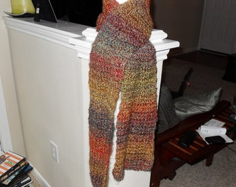Multi Colored Crochet Scarf