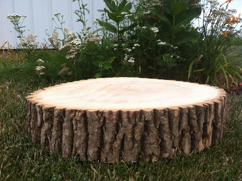 18 rustic wood cake stand tree slice. Black Bedroom Furniture Sets. Home Design Ideas
