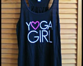 MEDIUM Yoga Girl - Flowy Black Tank