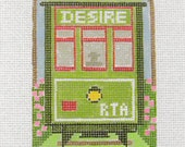 Desire Streetcar - Needlepoint Ornament Canvas