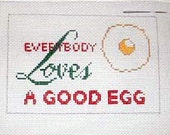 Everybody Loves a Good Egg - Needlepoint Ornament Canvas