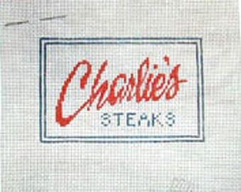 Charlie's Steak House & Bar - Needlepoint Ornament Canvas