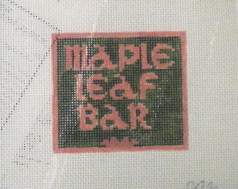 Maple Leaf Bar - Needlepoint Ornament Canvas