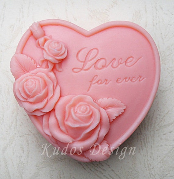 HR027 Forever Love Soap Mold, soap mold, silicone soap mold (Kudos Design, Kudosoap) Taiwan