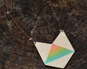 Geometric necklace, Reversible pendant