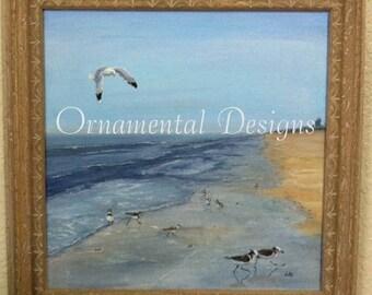 Shore Birds and Gull Original Painting