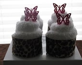 Washcloth Cupcakes: Leopard Print