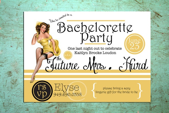 Printable Pinup Bachelorette Invitation