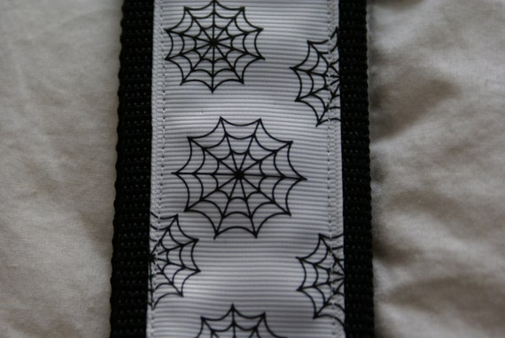 Black and White Spider Web Guitar Strap