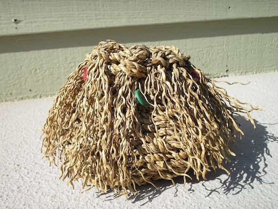 Red Buttons sweetgrass basket