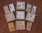 20 Piece Hand Decorated Jewelry Gift Packaging Set, 5 of each, gift box, tag, envelope, bag
