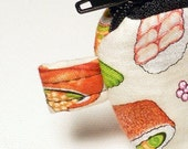 Sushi poof Zipper pouch keychain wallet