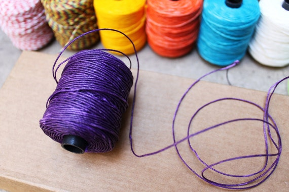 Violet: Waxed polyester cord, 10 meters, for macramé, Jewelry making, etc.