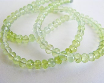 Prehnite Rondelles, AAA Beads, Half Strand, aaagems, 2.25-2.75mm, 8 inches