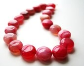 Strawberry Pink Necklace, Chunky, Circle, Hot Pink, Blush, Coral, Magenta, Salmon, Jewelry, Bold, Statement Necklace