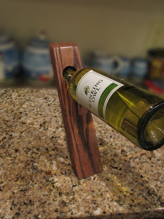 Father's Day SALE (20% OFF) - Balancing Wine Bottle Holder, Wooden Wine Bottle Holder, Balancing Wooden Wine Bottle Holder