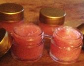 Strawberry flavored lip moisturizer