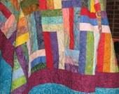Amazing Batik Quilt - Quilt Pattern - Jelly Roll friendly - Beginner