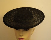 LARGE  Sinamay SAUCER  BLACK hat base  plus  interior parts to create