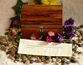 Treasure Chest With Personalized Messages in a Bottle for Sister