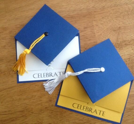 Graduation Party Invitation - School Colors - Graduation Cap