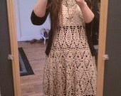 Classy, Vintage Look, Crochet Lace Dress (to size)