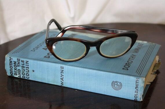 vintage 60's cats eye glasses cat eye tortoise shell girls eyeglasses