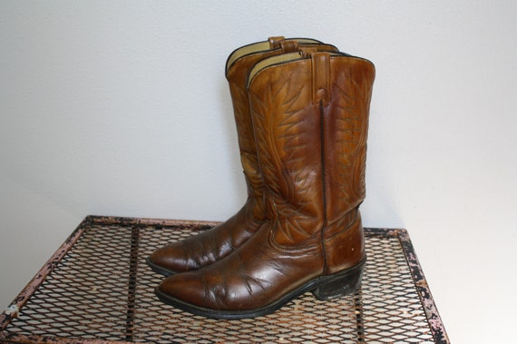 vintage ACME USA made leather cowboy western boots 8.5/9 ladies