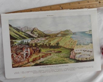 Science - Seismology German Lithograph