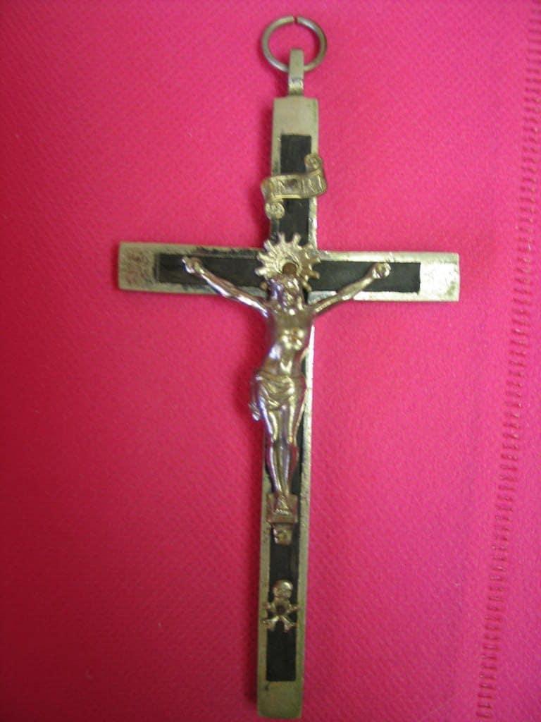 Vintage Large German Crucifix Skull And Bones By Macattakk2000