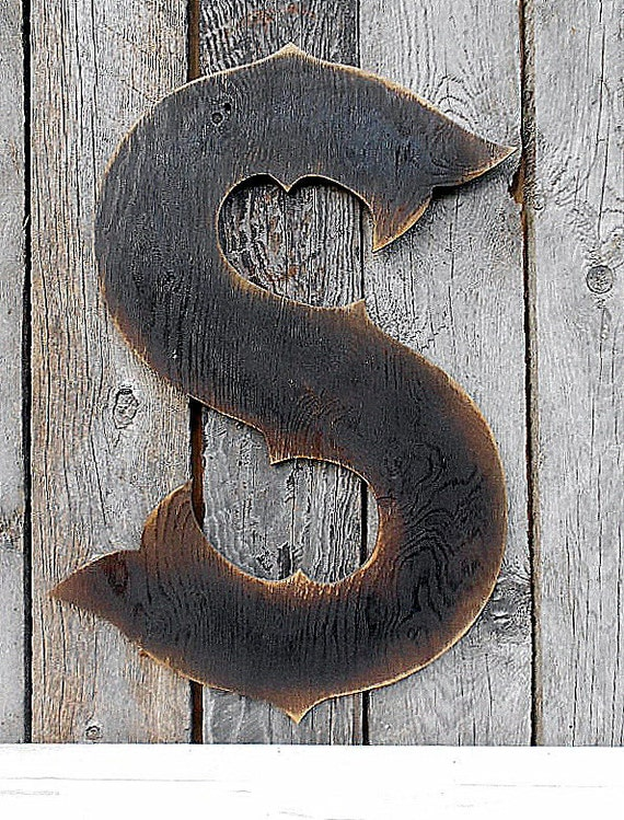 "22"" X-Large Western Style Letter ""S"" Shabby Chic Rustic"