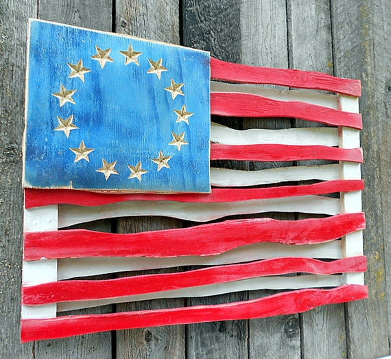 Items Similar To Large Patriotic Folk Art Wooden American