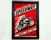 Custom Retro Motorcycle Racing Poster - 11x17 - Printable Digital File