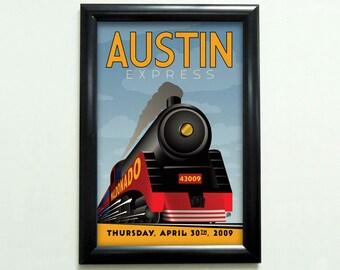 Custom Retro Train Poster - 11x17 - Printable Digital File