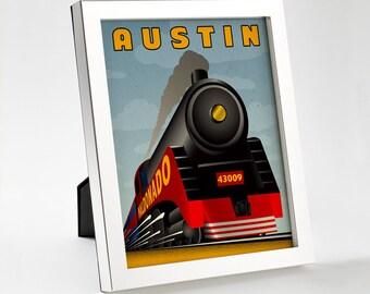 Custom Retro Train Poster - 8x10 - Printable Digital File
