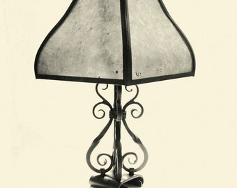 Table Lamp - Handmade from Iron and Mica