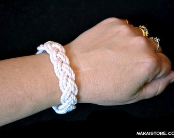 "Small ""Surfer Bracelet"" - Nautical Sailor Beach Turks Head Bracelet"