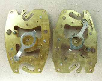 Vintage Alarm Clock Plates - Steampunk Jewelry Findings - G49