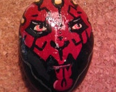 Darth Maul painted rock