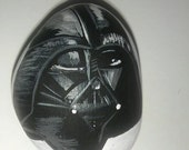 Darth Vader painted rock
