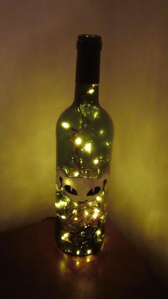 Puscifer wine bottle lamp by ParabolgirlsShop on
