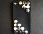 SPECIAL OFFER Black & Silver Studded iPhone 4 Case