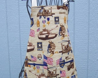 Child's Army Apron