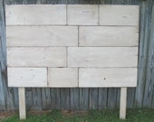 Queen Headboard Distressed White