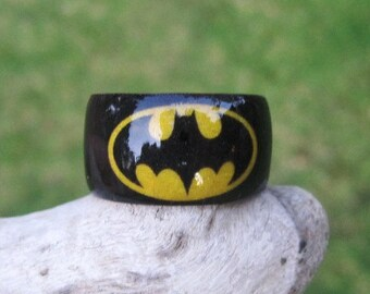 Bat Signal (Batman) -- Adjustable Wood Ring