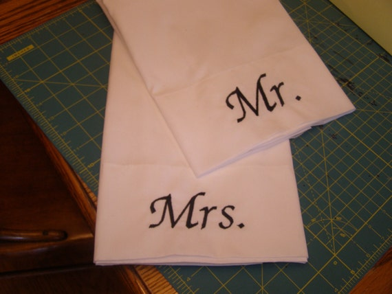 Personalized Mr. & Mrs. Pillow Cases